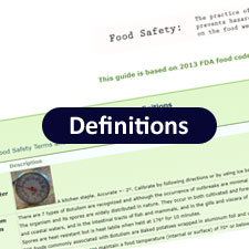 Food Safety Definitions and Acronyms commonly used