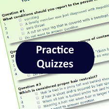 Free to all practice quizzes by subject matter